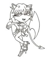 Luci the Succubus: Uncolored by TwisterTheHedgehog