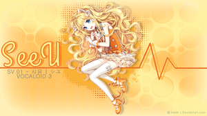 Wallpaper - SeeU Vocaloid 3 by KeiiiN