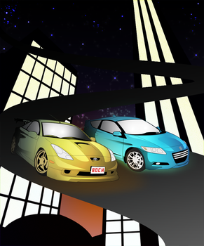 Galaxy driveways by TheManyVoices