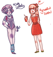 Cocktail Girl adopts 2! by hanecco