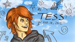 Tess the Optimist by Sketch-Zap