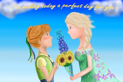 Elsanna week day 4 - Making today a perfect day by TaniaHylian