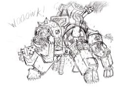 Ponyhammer 40k - Pork Boarboss by cahook2