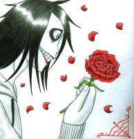 jeff the killer (red?) by KillerLovelyMins