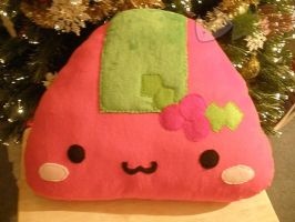 Christmas Onigiri Pillow by LiLMoon