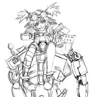 Gaige the Sexy Mancer WIP by Britty-Mae