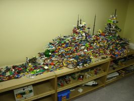 Huge Lego ship - Top size view by best360