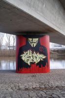 Anonymous StreetArt Vendetta Mural in Bamberg by OpGraffiti