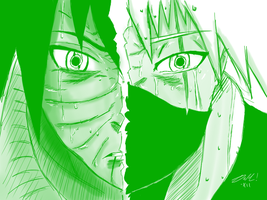 Eyes Cross! Obito v Kakashi by mabusxx