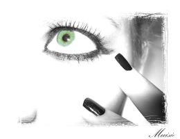 the green eye in the white by muisie