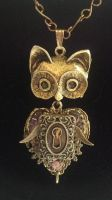 Hootini the Cat Owl by Ronigirl