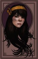 Bat For Lashes Portrait by feliciacano