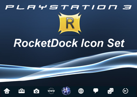 Ps3 RDock Icons by michaelgoldthriteart