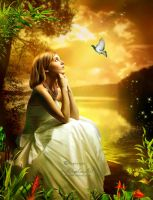 Dreaming Girl by AngeliaArt