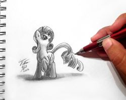 Drawn To Life_Rarity by Tsitra360