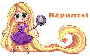 pixel repunzel by cathychen