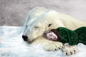 The Girl and the White Bear by Fereshteh