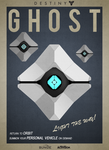 Destiny - Retro Ghost Poster by OverwatchGraphics