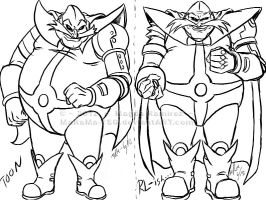 Robotnik Drawing Styles by MaRaMa-TSG
