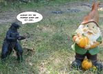 i love Godzilla and pumpkins but i HATE gnomes! by wolfin22