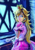 .:Princess Peach portrait:. by CarlyPandy