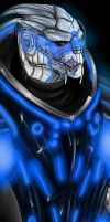 TRON Effect - Garrus v1 by Inside-Joke