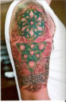 Celtic Half Sleeve Tattoo by fatsalty