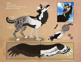 Commission - Reference sheet for Aeyote by Chaluny