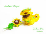 Sunflower dragon by rosepeonie