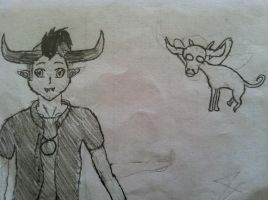 Tavros and Tinkerbull Sketch by Skrill23