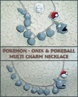 Pokemon - Onix Charm Necklace by YellerCrakka