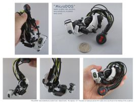 Micro GLaDOS Sculpture by gryphonworks