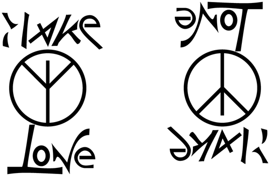Ambigram-Make Love Not War by sid-raphael