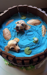 Golden Retriever Cake - Different Angle by GamerGirl84244