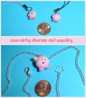 New Kirby Charms and Necklace by YellerCrakka