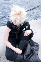 Cloud Strife - - Waiting by SilverEyedPsycho