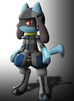 Riolu Battle Armor by MikeGTS