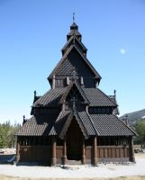 Wooden Church - 2 by mjranum-stock