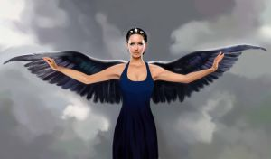 Katniss in Mockingjay dress by MartaDeWinter