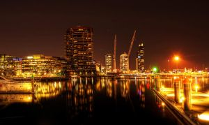 Night: Docklands Marina HDR by daniellepowell82