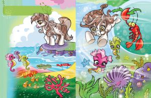 Pony sea story pages 1 and 2 by darkodordevic