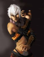 CONTEST Diablo III: Female Monk :Finished: by Linitha