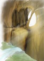 Entrance To A Cave City? by Haizeel