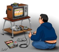 Playing the NES... still by heavycarcass