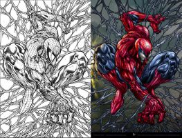 Amazing Spiderman by aladecuervo