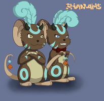 Transformice shamans by Xaizently