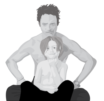 Robert Downey Jr and Indio by JenniferOHcious