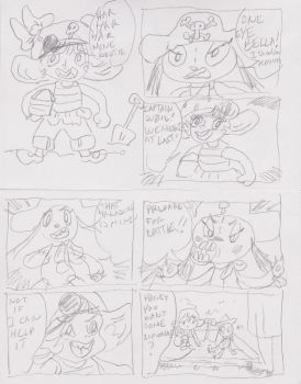 Bella and Suzie daily comic doodles by Kosugy