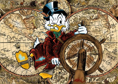 The adventurer Scrooge McDuck by Mikkellll