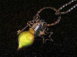 Huon Particle Doctor Who Companion Charm Necklace by MammaShaClothing